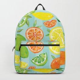 Zesty Citrus Pattern Backpack