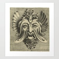 Gargantua - Black and White Beard Art Print