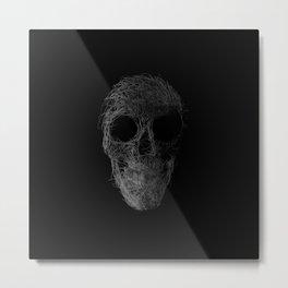 Sk(etch)ull Metal Print