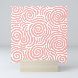 Ripple Effect Pattern Peach Mini Art Print