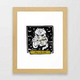 Cthulhu rolls Framed Art Print