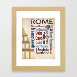 Travel - Rome Framed Art Print