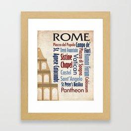 Travel - Rome Framed Art Print