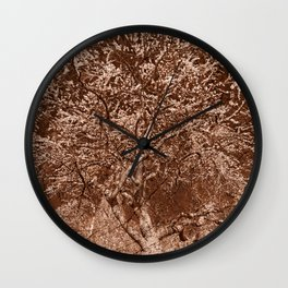 Wooden Cherry Blossom Impressions Wall Clock
