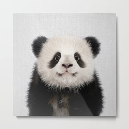 Panda Bear - Colorful Metal Print