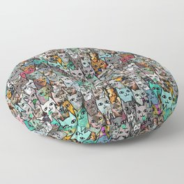 Gemstone Cats Floor Pillow
