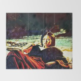By Firelight Throw Blanket