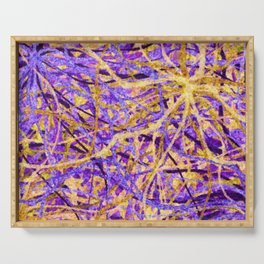 Purple and Gold Celebration Serving Tray