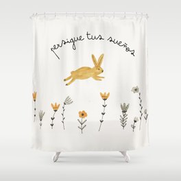bunny dreams Shower Curtain