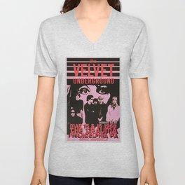 1968 Velvet Underground Concert Gig Vintage Advertising Poster Unisex V-Neck