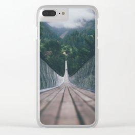 Crossing bridges. Clear iPhone Case