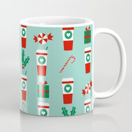 Peppermint Latte mint gender neutral coffee lovers gift for christmas food traditions to remember Coffee Mug