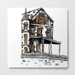 The Old Hiltop Home Metal Print