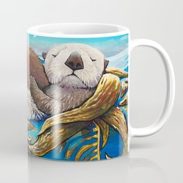 Sea Otter Mom & Pup Coffee Mug