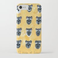 schnauzer iPhone & iPod Cases featuring Schnauzer by Sonia Ku