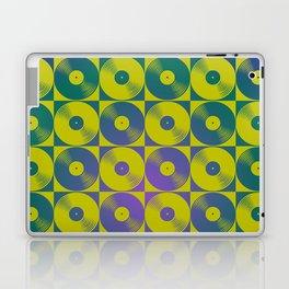 Cool vinyl records pop art pattern Laptop & iPad Skin