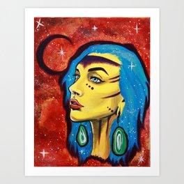 Galaxy Girl Series -5- Jenn Art Print