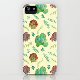 Paddle Plant Pattern iPhone Case