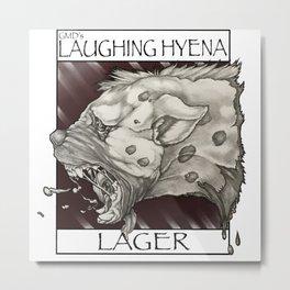 GMDs Laughing Hyena Lager Metal Print