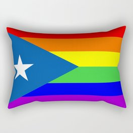 puerto rico gay people homosexual flag rainbow Rectangular Pillow