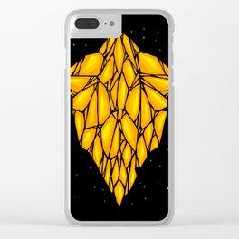 Yellow Diamond Clear iPhone Case
