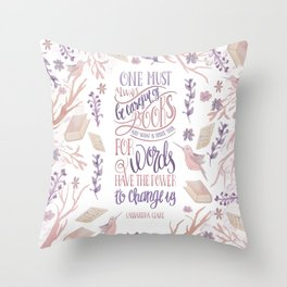 ONE MUST ALWAYS BE CAREFUL Throw Pillow