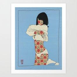 GIRL01 Art Print