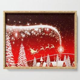 Santa Beautiful Christmas Serving Tray