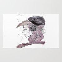 headdress Area & Throw Rugs featuring Headdress by Avedon Arcade