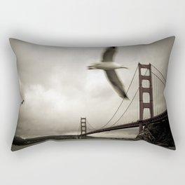 Seagulls over Sausalito Rectangular Pillow