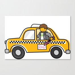 Taxi Writer Canvas Print