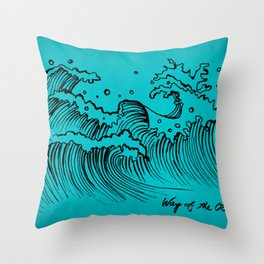 WAY OF THE OCEAN - Waves Print Throw Pillow