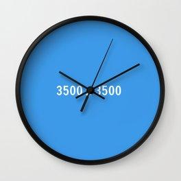 3000x2400 Placeholder Image Artwork (Dropbox Blue) Wall Clock