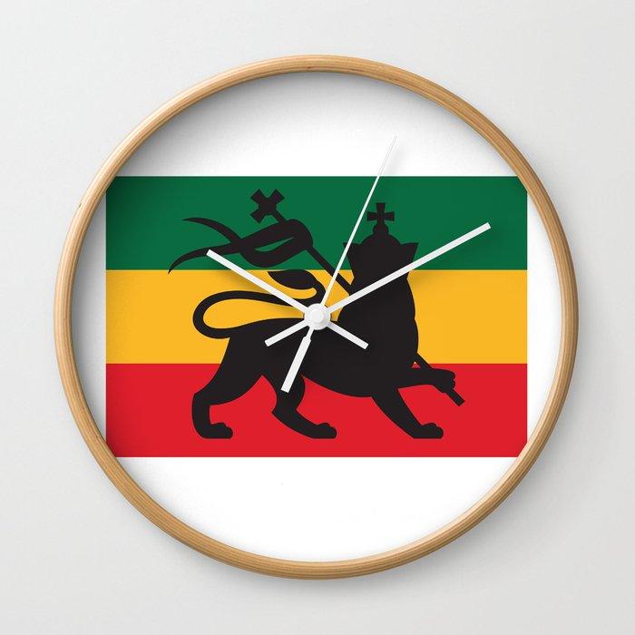 Rastafarian Flag With The Lion Of Judah Reggae Background Wall