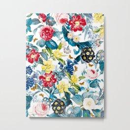 Spring-Summer Botanical Pattern Metal Print