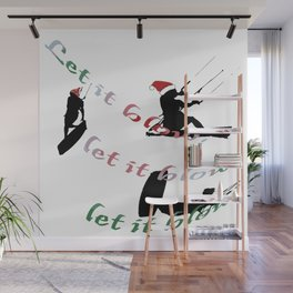 Let It Blow Christmas Holiday Wakeboarding Sport Wall Mural