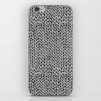 Hand Knit Grey Black iPhone Skin