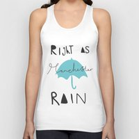 manchester Tank Tops featuring Right as Manchester rain. by Mary Naylor