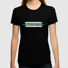 Washington Customs and Border Control Agents Gift for Policeman, Cop or State Trooper Thin Green T-shirt