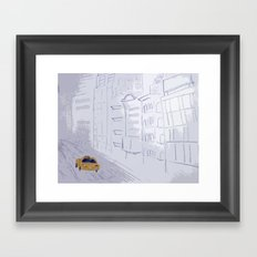 Taxi City Framed Art Print
