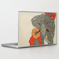 laptop Laptop & iPad Skins featuring The Elephant by Valentina Harper