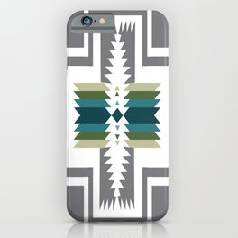 American Native Pattern No. 454 iPhone Case