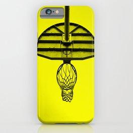 minimal basketball rime iPhone Case
