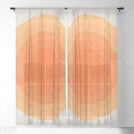 Sunspot -  Creamsicle Sheer Curtain