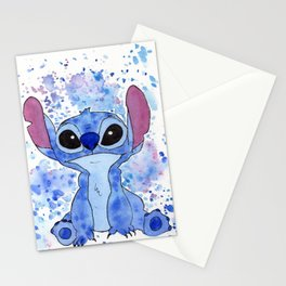 Stitch Watercolor Splash Stationery Cards
