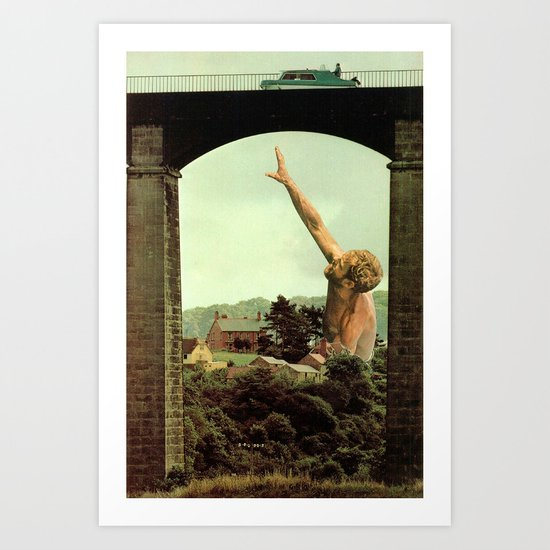 drowning in the countryside Art Print