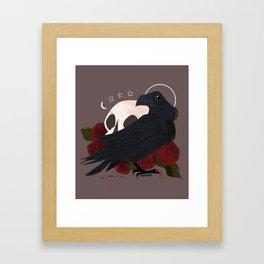 Familiar: Raven Framed Art Print