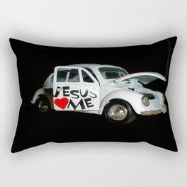 Jesus Car Rectangular Pillow