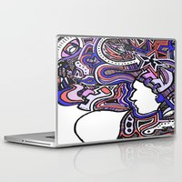 techno Laptop & iPad Skins featuring Salmon Techno by Madison R. Leavelle