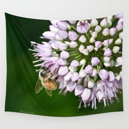 Honey Bee And Lavender Flower Wall Tapestry